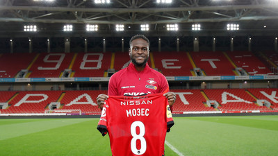 Victor Moses joins Spartak Moscow for his sixth loan move away from Chelsea