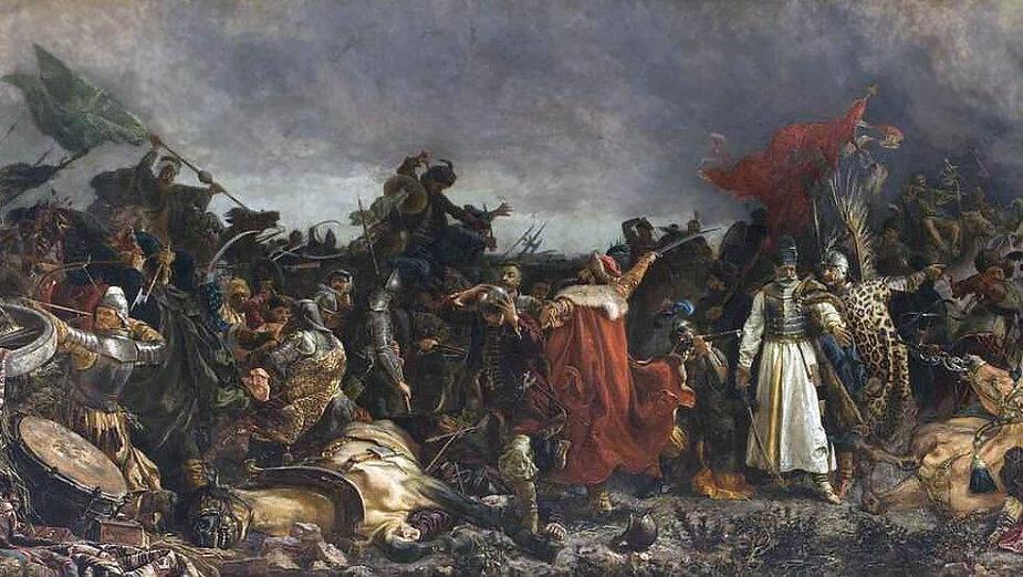 Bitwa pod Cecorą, obraz pędzla Witolda Piwnickiego (domena publiczna)