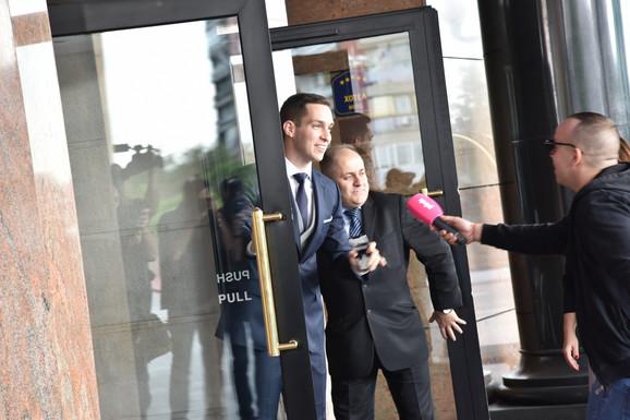 Miloš Ivanović prilikom dolaska u hotel