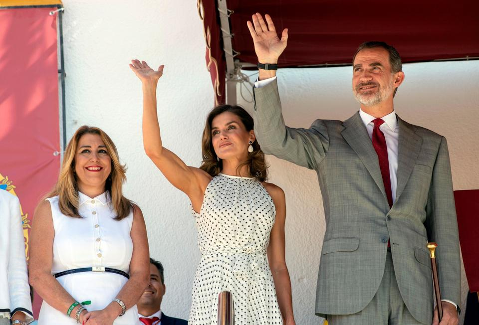 epa06898134 - SPAIN ROYALTY (Spanish royal couple visit Bailen)