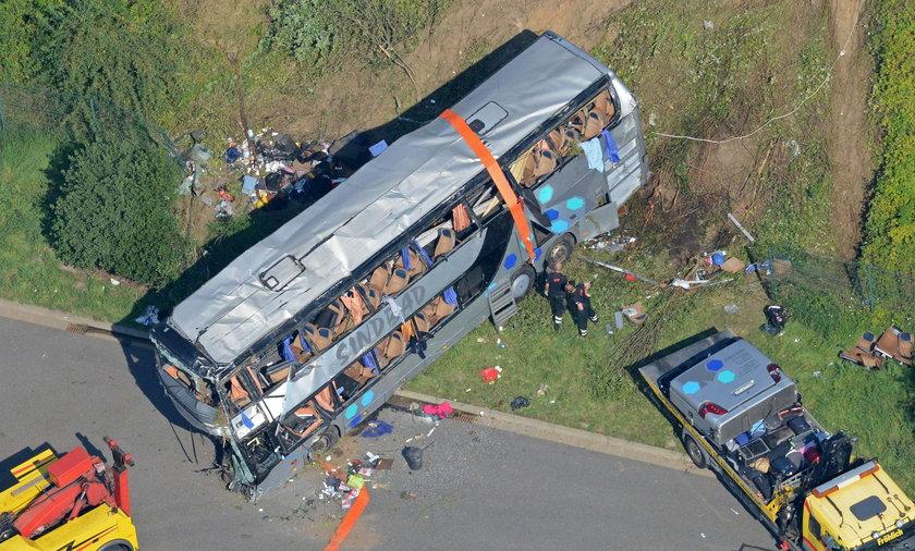 Wypadek polskiego autokaru pod Dreznem