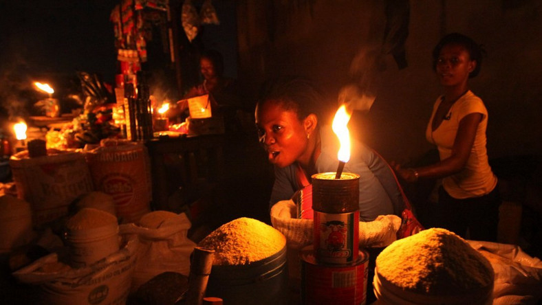 Image result for a nigerian home in the dark due to lack of electricity images