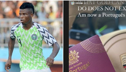 Mikel Agu announched that he has gotten is Portuguese citizenship  (Instagram/Mikel Agu)c