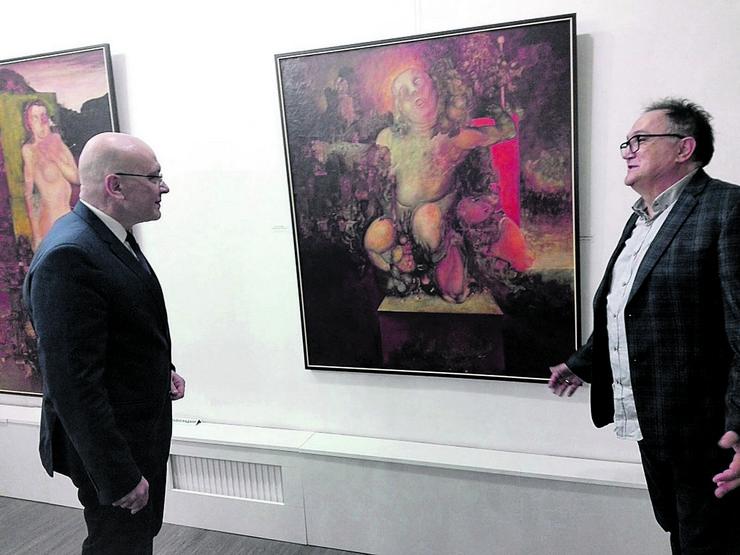 Moderna galerija Ministar Vukosavljević i direktor Jovanović