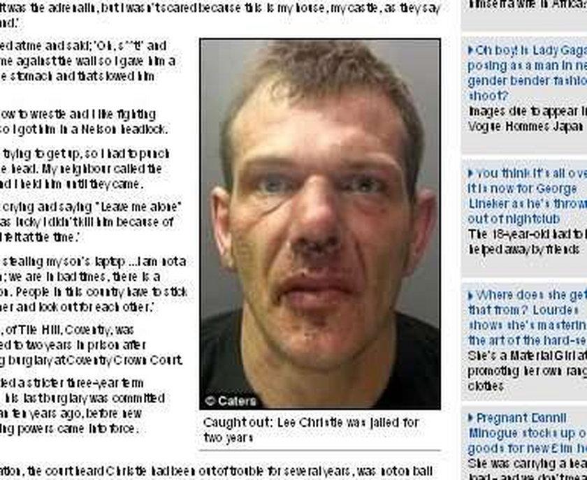 Polak złapał złodzieja w Anglii
