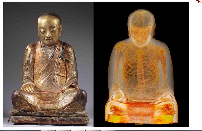 Wnętrze posągu wygląda tak - informuje portal cnet.com