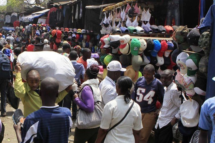 A section of Gikomba market.