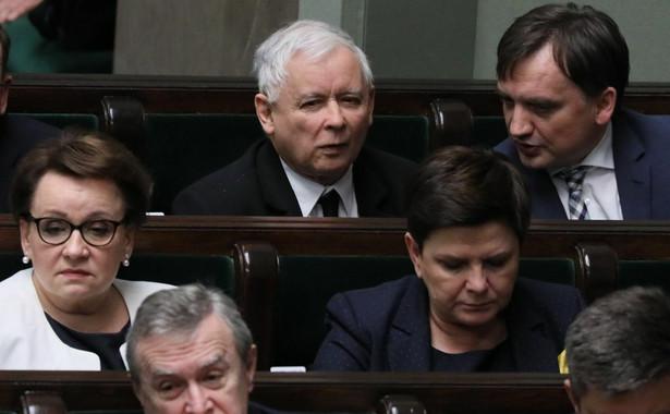 Jarosław Kaczyński i Zbigniew Ziobro w Sejmie