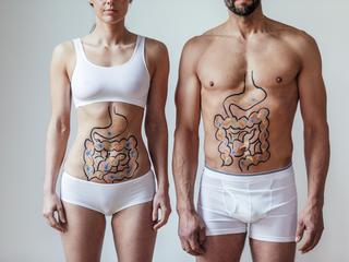 Male and Female Intestinal Health Concept