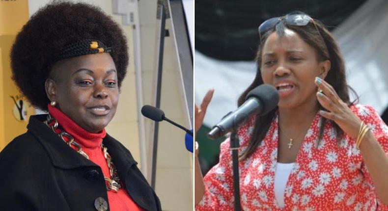 Suba North MP Millie Odhiambo and Nakuru Senator Susan Kihika