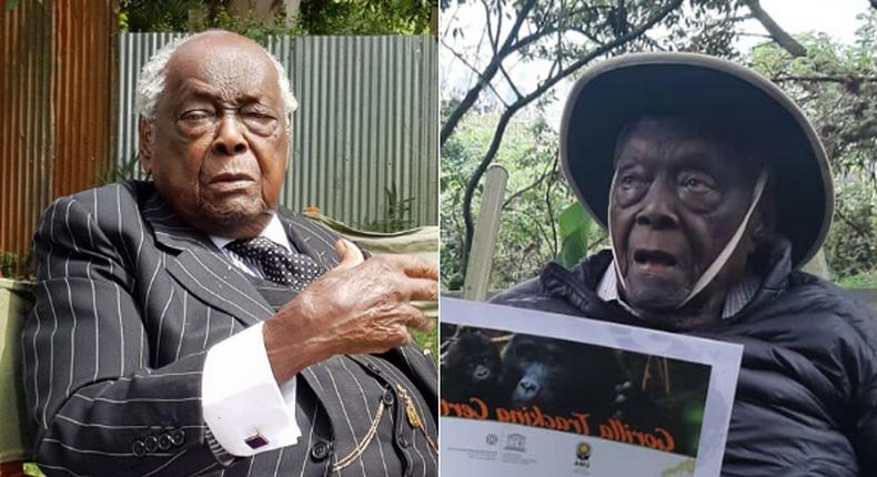 Kenyans react as former Attorney General Charles Njonjo marks 100th birthday tracking gorillas in Uganda's Mgahinga Gorilla National Park
