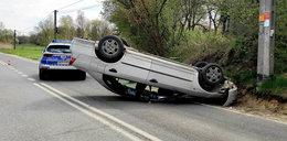 Wypadek w Cieciszewie. Kierowca uciekł, a potem...