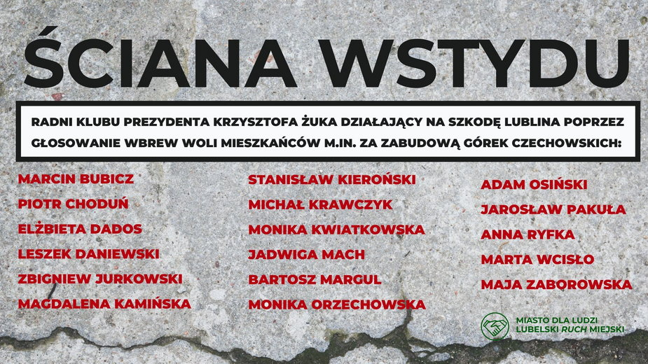 """""""Ściana wstydu"""" z 2019 r."""