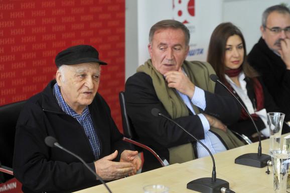Filip David i Božo Koprivica na današnjoj dodeli NIN-ove nagrade