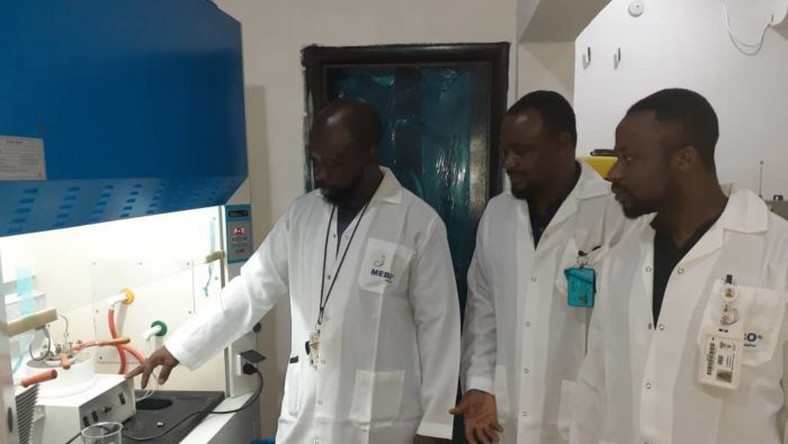 DPR officials during the inauguration of the laboratory for petroleum products analysis. [NAN]