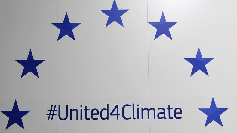 Plakat na konferencji klimatycznej w Bonn, tzw. COP23