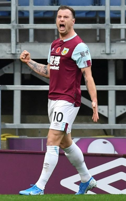 Ashley Barnes scored the opening goal in Burnley's 3-0 win over West Ham