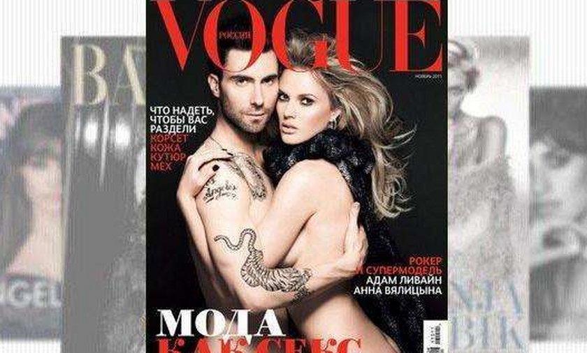Adam Levine nago w Vogue