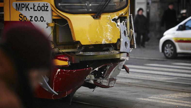 Wypadek tramwaju