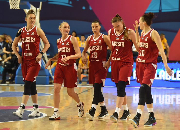 Ženska košarkaška reprezentacija Srbije, Ženska košarkaška reprezentacija Rusije, Košarkašice Srbije