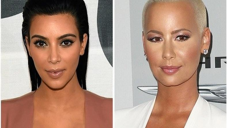 Kim Kardashian and Amber Rose