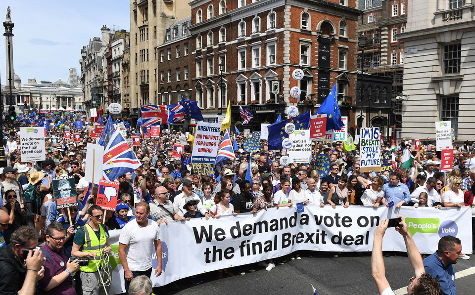 epa06833266 - BRITAIN BREXIT PEOPLE'S MARCH DEMONSTRATION (People's March Against Brexit)