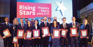 Rising Stars. Prawnicy - liderzy jutra 2018, czyli wschodzące gwiazdy prawa