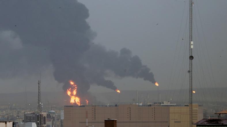 Pożar rafinerii w Teheranie