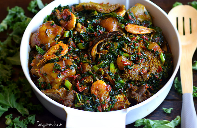 Efo riro vegetable soup [Sisi jemimah]