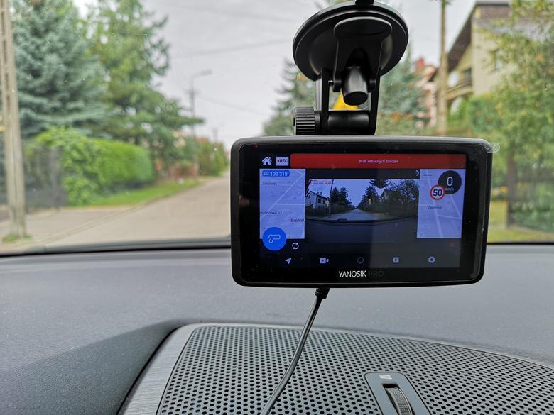 Yanosik Pro - podgląd obrazu z kamery