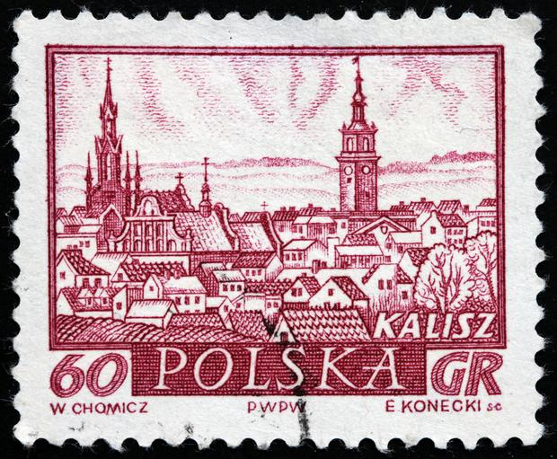 Kalisz na polskim znaczku pocztowym