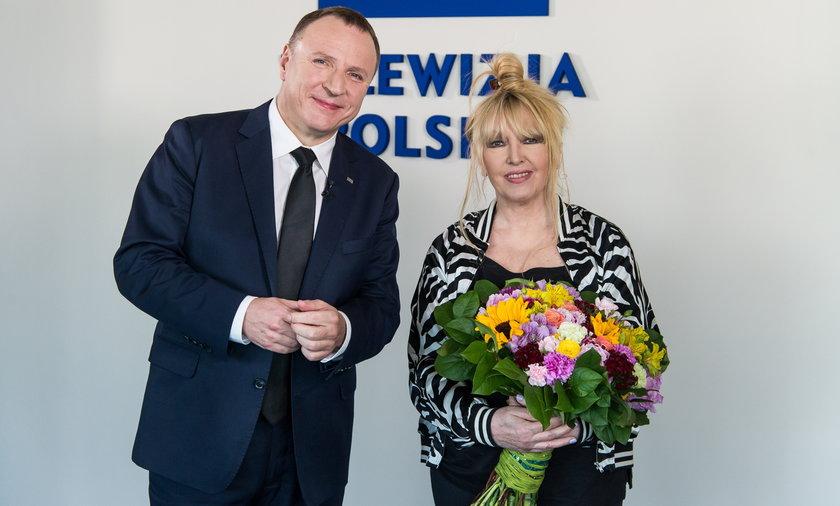 spotkanie Maryli Rodowicz i prezesa Jacka Kurskiego