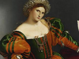 Portrait of a Woman inspired by Lucretia, ca 1530. Artist: Lotto, Lorenzo (1480-1556)