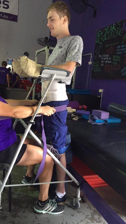 Darcy Ward stawia kroki podczas rehabilitacji