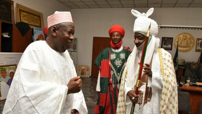 Kano Governor Ganduje and Emir Sanusi when the going was good (Punch)
