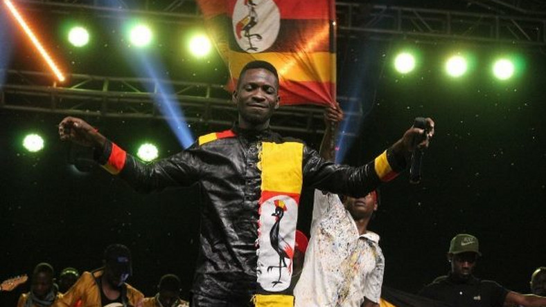 Bobi Wine perfoming on stage