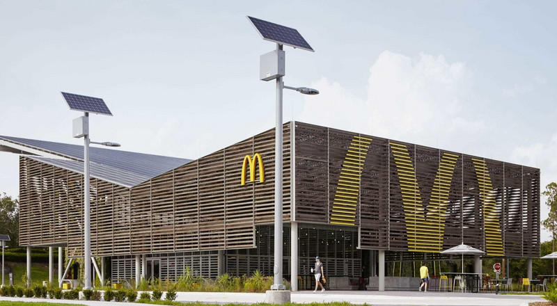 A futuristic solar-powered McDonald's just opened at Disney World, and it's open to the public. Take a look inside.