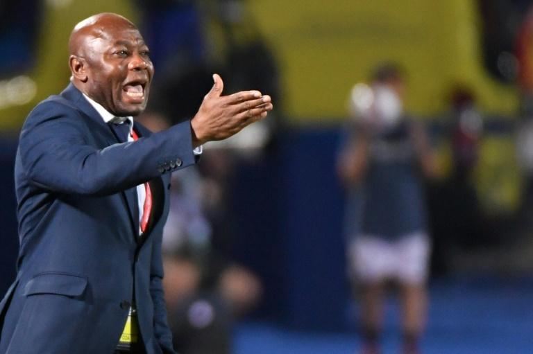 Tanzania coach and former Nigeria star Emmanuel Amunike reacts during a 2-0 defeat by Senegal in the Africa Cup of Nations