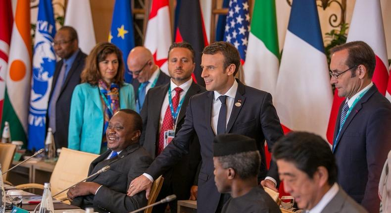 Acting President Yemi Osinbajo at the World leaders at the G7 Summit