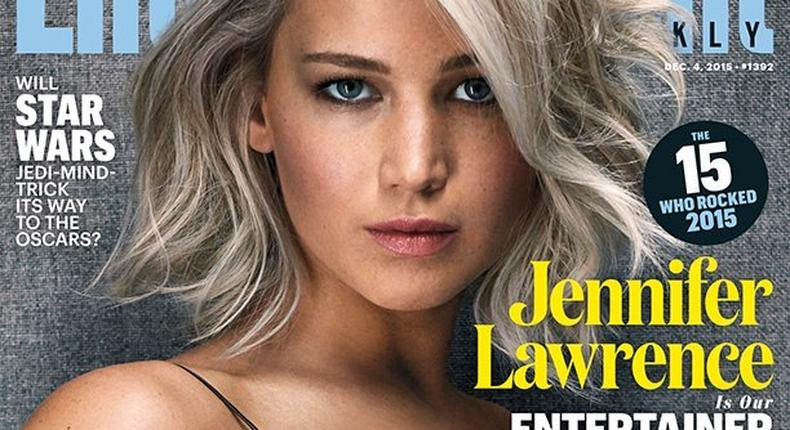 Jennifer Lawrence covers Entertainment Weekly