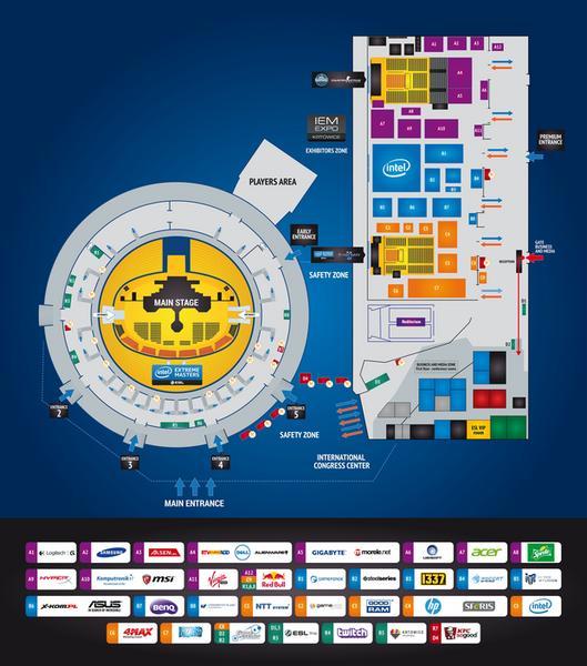 Intel Extreme Masters Katowice 2015 - mapka imprezy