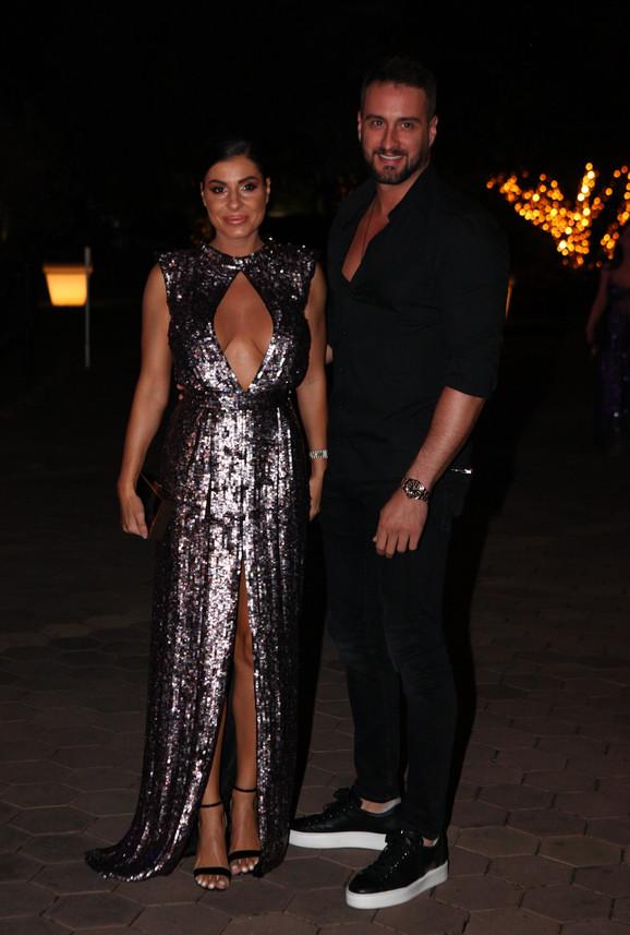Mia Borisavljević sa partnerom Bojanom