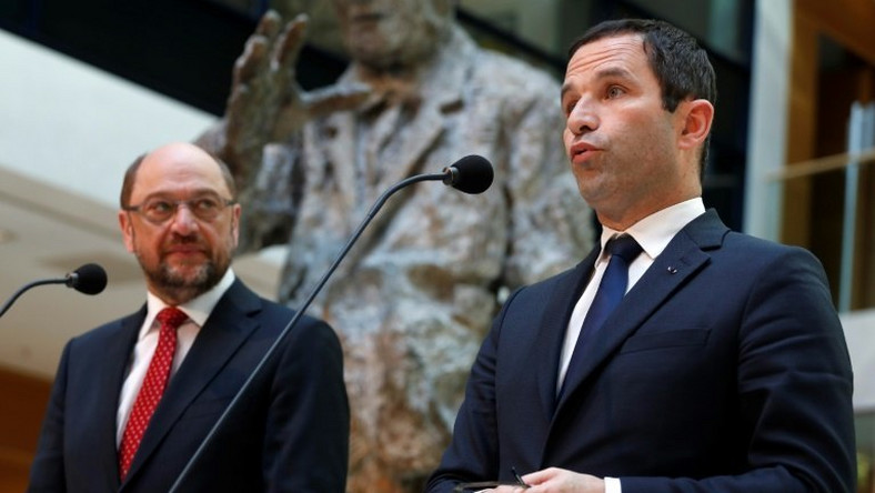 Benoit Hamon won the backing of the former European Parliament president Martin Schulz