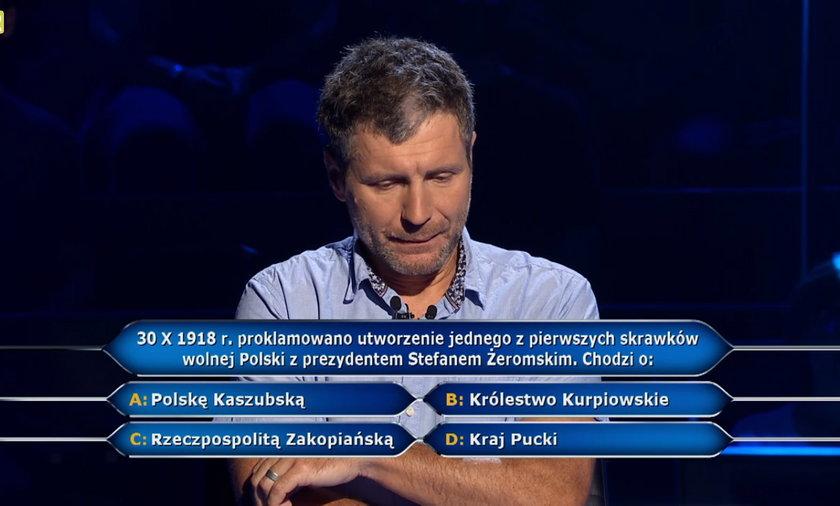 """""""Milionerzy""""  padło pytanie o Stefana Żeromskiego"""