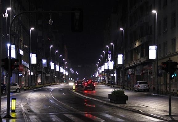 Osvetljena Brankova ulica