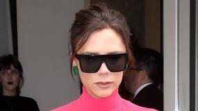 Victoria Beckham w różowym... czymś. To jeszcze nic. Spójrzcie na buty!