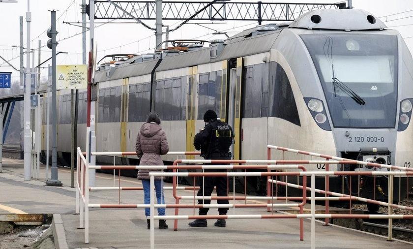 Katowice. Alarm bombowy w pociągu z Lublińca do Oświęcimia