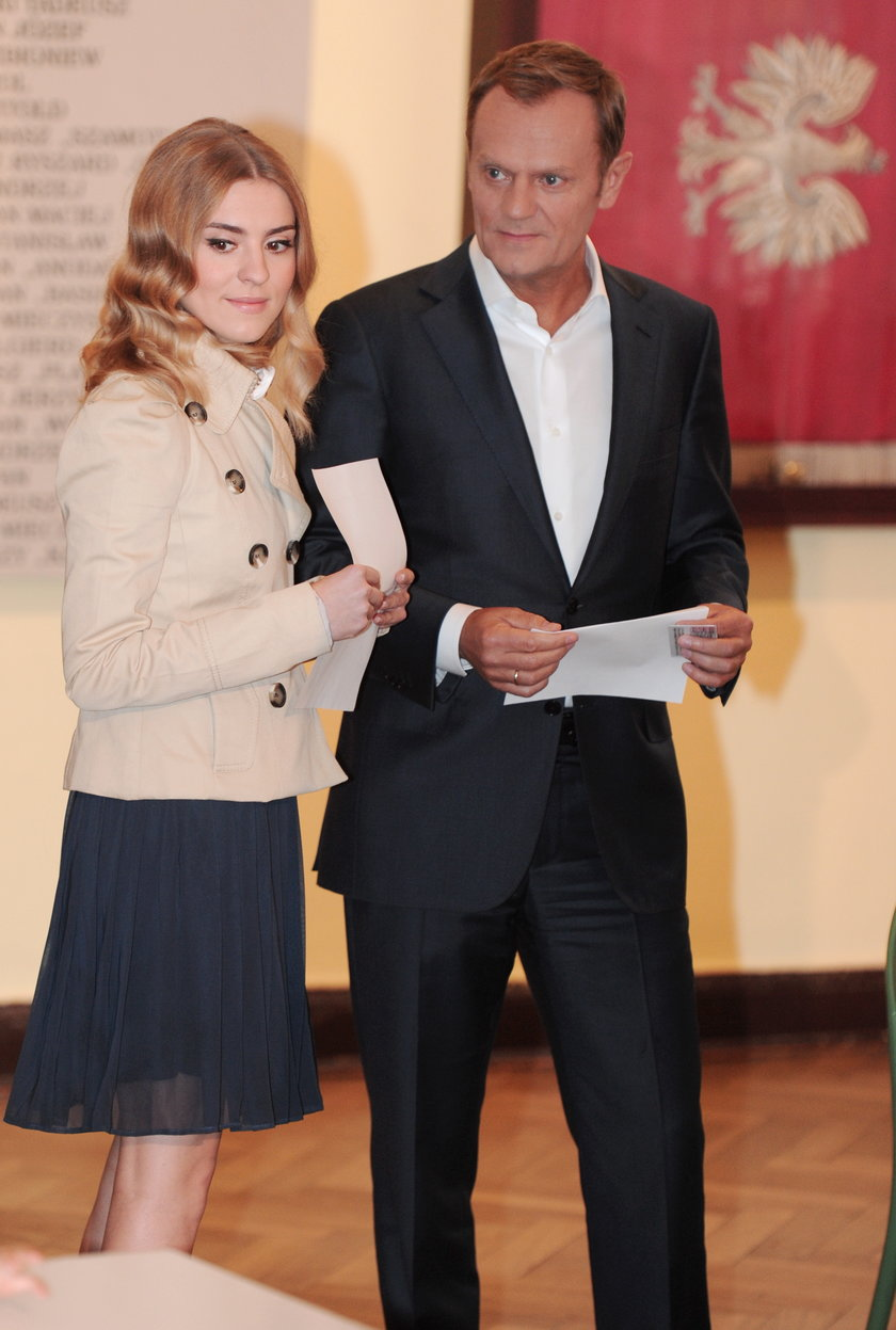 Tusk z córką