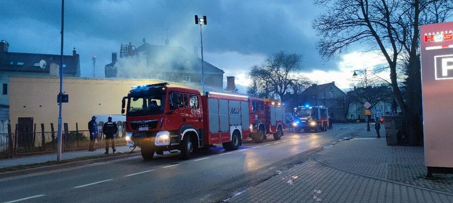 Pożar budynku przy ulicy Złocieniekiej w Drawsku Pomorskim