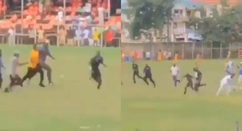 Watch: Ugly scenes as fans chase and beat up referee during BA United vs RTU game